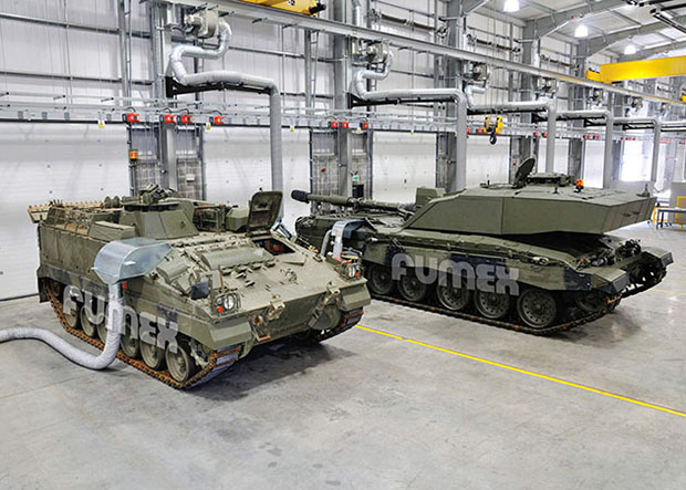 Military Vehicle Fume Extraction Systems