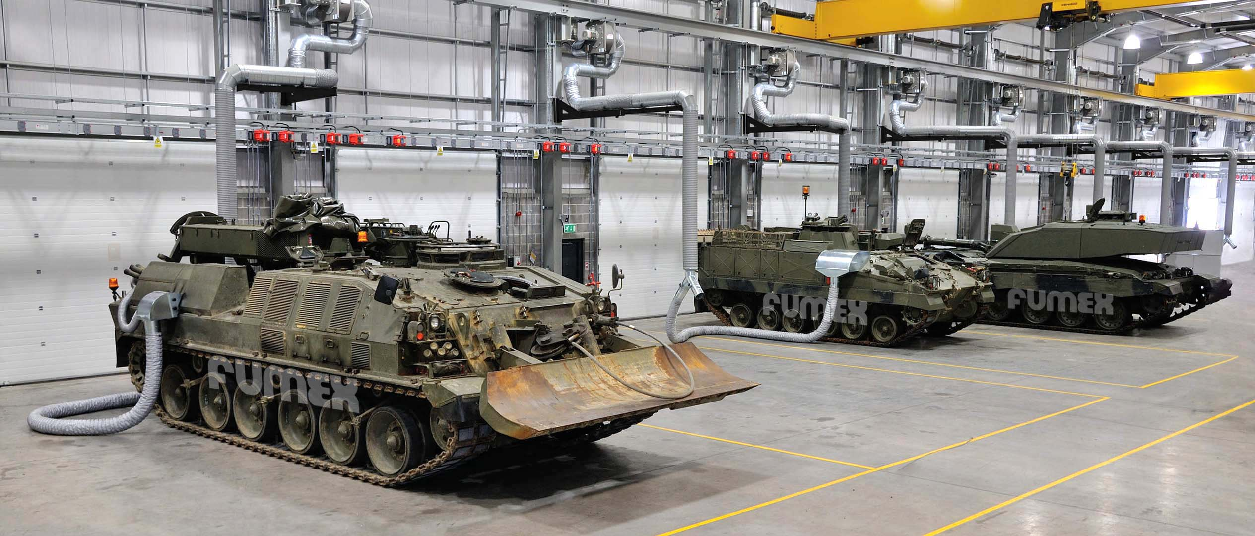 Exhaust Extraction Hoods for Military Vehicles